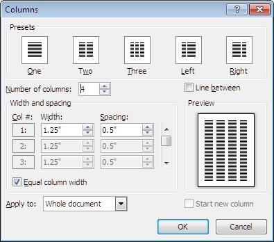 Using Columns