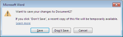 Word's Save Options