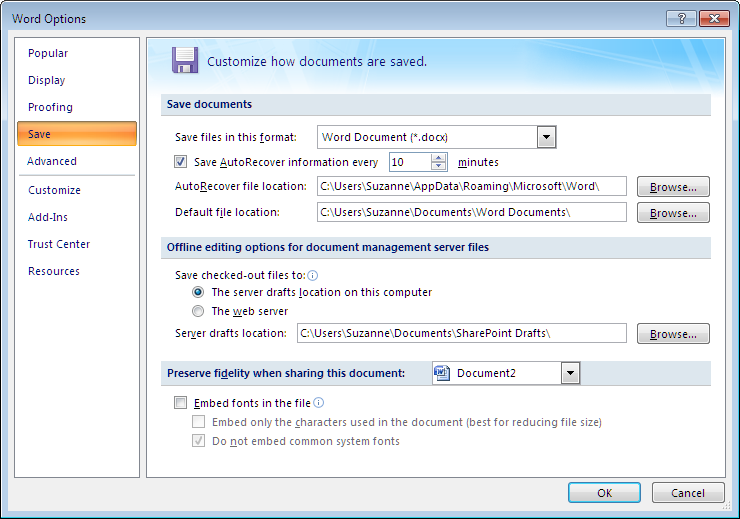 Cannot find a saved document on Microsoft Word 2007?