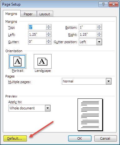 How do I set double-spaced with margins in my Word document XP?