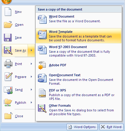 how to open an existing document in word 2007