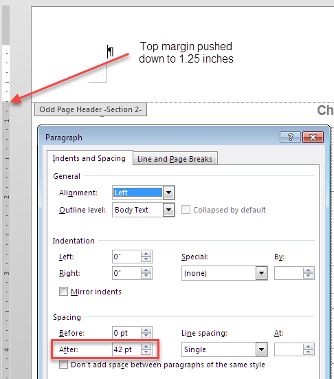 Margins for Bound Documents